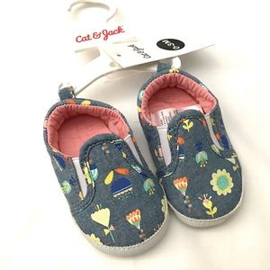 New Cat&Jack 0-3M Multicolored Flower Shoes